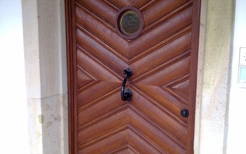 Tischlerei Riese, Glandorf; alte Holz Haustür restauriert